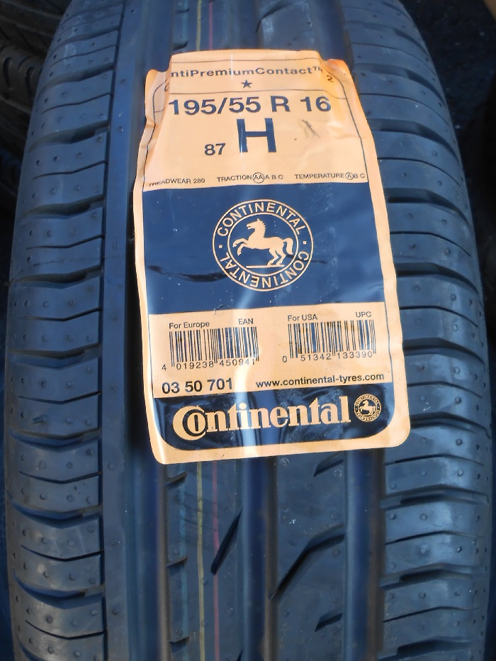 195/55 R16 87T Continental ContiPremiumContact 2 letní - DEMO